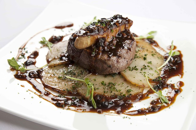 US beef tenderloin Rossini with potato sarladaise