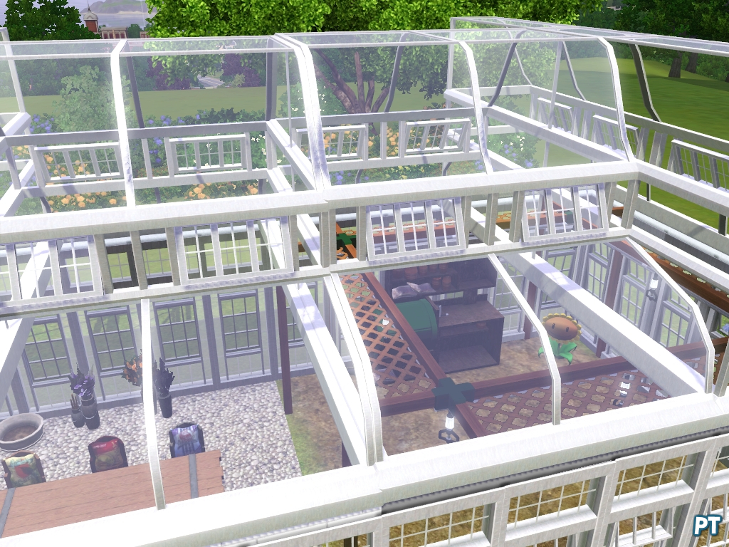 Steenworp kas locatie voor de sims 3 pingu ntech - Glazen dak dak glijdende ...