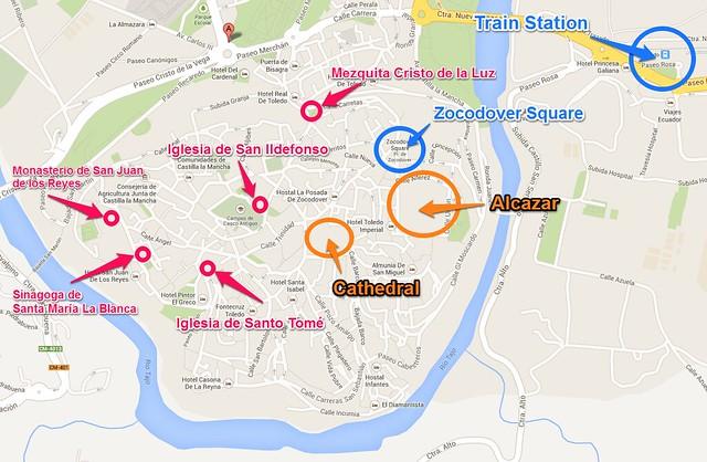 Tourist Map of Toledo