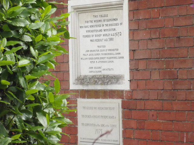 Photo of Morley College  and George Morley stone plaque