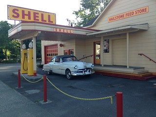 Our pontiac at an old shell station