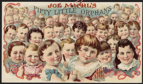 Joe Michl's fifty little orphans. [front]