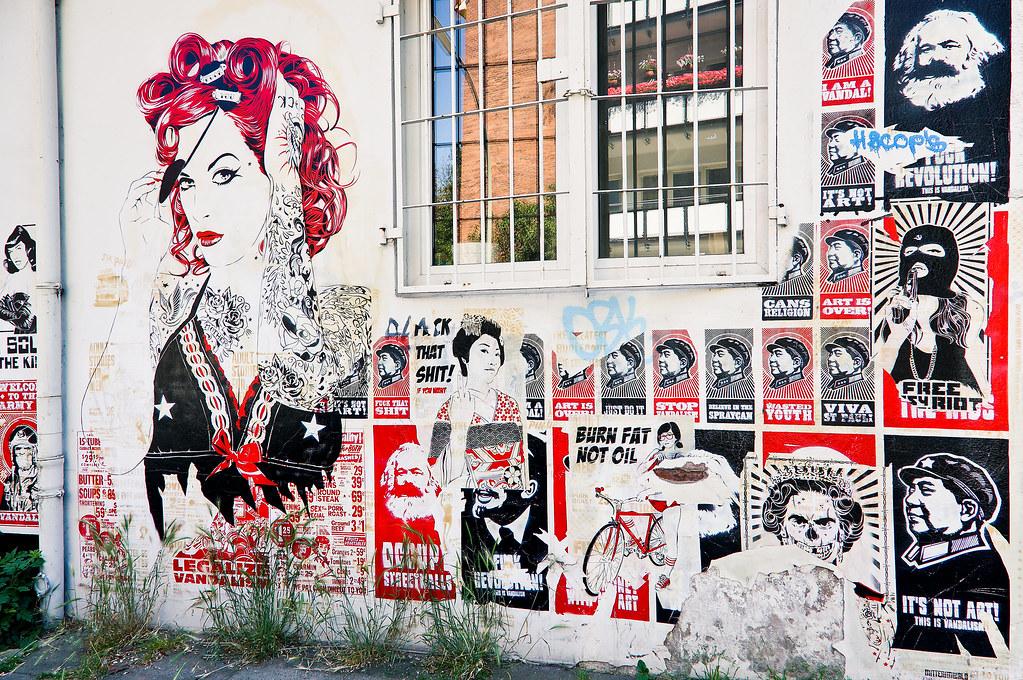 Street Art Häuserfront Hamburg