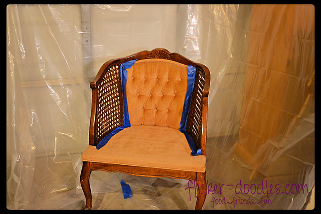 DIY Painted Fabric Chair