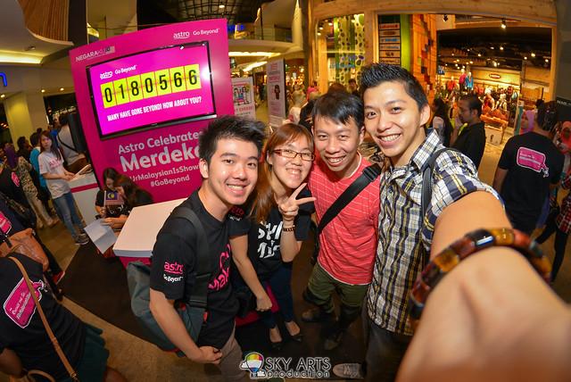 Astro Negaraku #UrMalaysianIsShowing #GoBeyond @ Mid-Valley Megamall