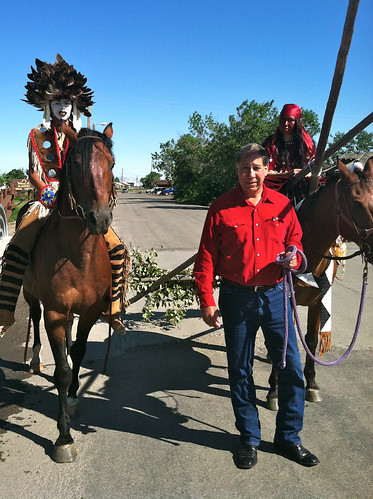During the North American Indian Days Celebration in Montana, Under Secretary Ed Avalos (foreground), witnessed the pride and commitment of youth as they celebrated their cultural and agricultural roots.