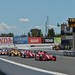 The green flag waves to restart the GoPro Grand Prix of Sonoma