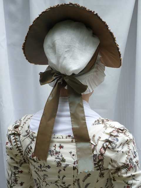 blue/brown changeable silk taffeta hat
