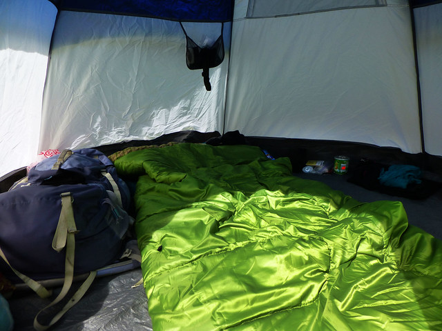 The inside of my tent