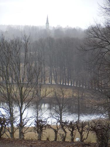 trees church sweden avenue träd kyrka treetrunks västragötaland västergötland nääs allé floda trädstammar skallsjö