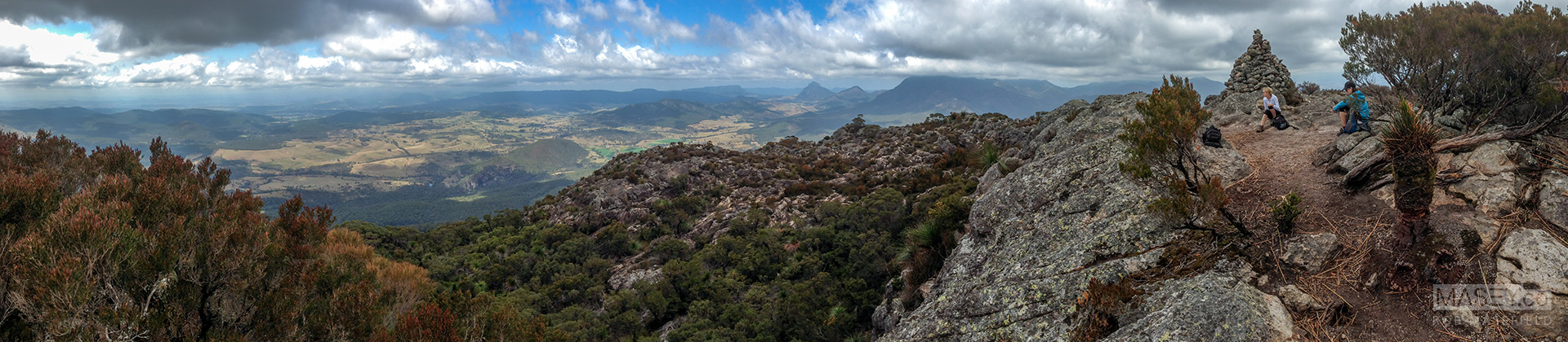 Stunning 360 degree views from the top of Mount Maroon.