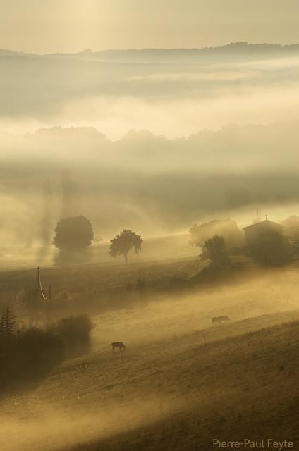 Brouillards de fin d', Pentax K-5, Sigma APO 70-200mm F2.8 EX
