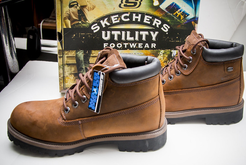 are skechers boots waterproof
