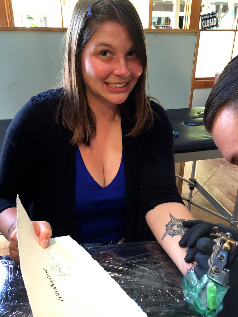 Getting a tattoo in Wanaka, New Zealand