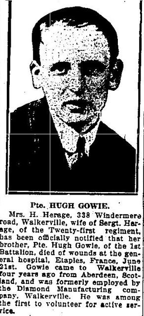 Hugh Hay Gowie