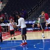 Griffin and Jordan on the court during practice... #Clippers by hailtothetheif83