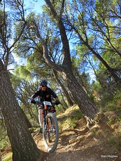 Juan Antonio riding case alto in Sierra Espuna