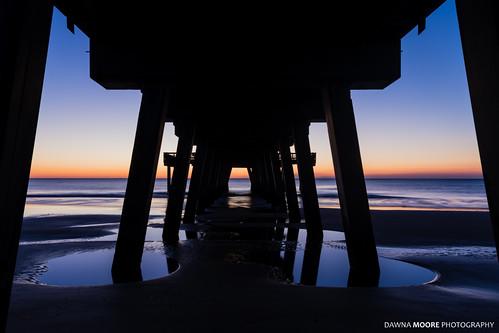 Symmetrical Sunrise, Tybee Island Pier, Georgia