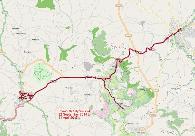 Plymouth Citybus Route-79A 2014-09-22