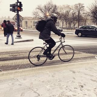 Snow cyclist #bikedc