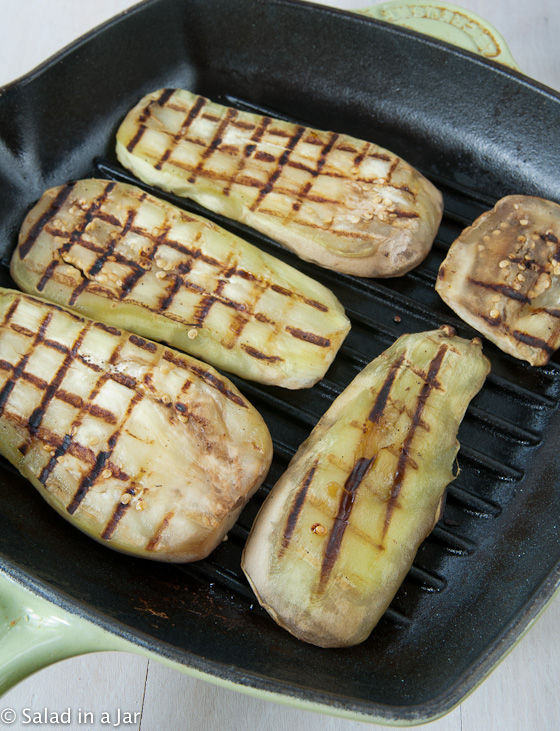 Southwestern Eggplant -- when grilled in a grill pan or skillet, eggplant doesn't get soft and mushy like it does when boiled.