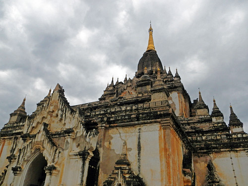 Exterior of at Thatbyinnyu Phaya in Bagan, Myanmar
