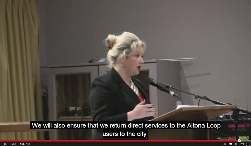 Jill Hennessy at MTF forum: Altona rail