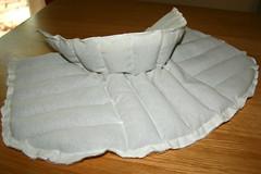 Tuto couture - bouillotte en graines de lin pour les cervicales - Etape 12