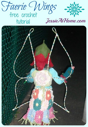 Faerie Wings free crochet tutorial by Jessie At Home