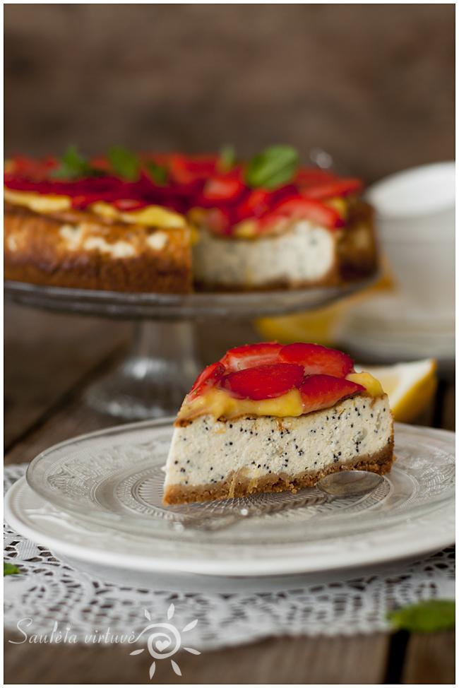 Citrininis sūrio tortas su aguonomis (4)