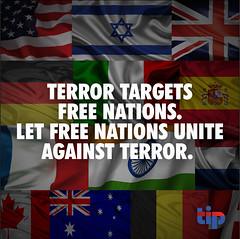Free nations must unite against terror.