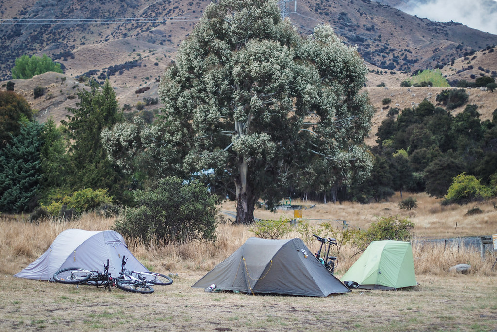 Heddon Bridge campsite on the Molesworth Muster Trail, New Zealand