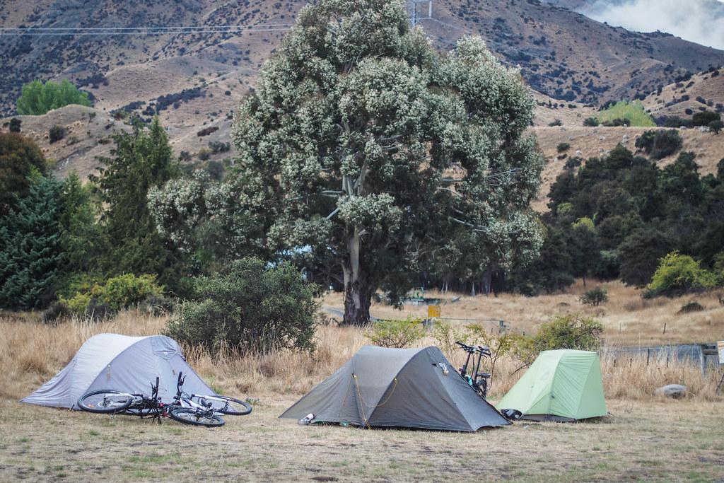 Heddon Bridge campsite on the Molesworth Muster Trail, New Zealand