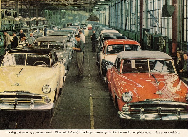1951 Plymouth Assembly Line