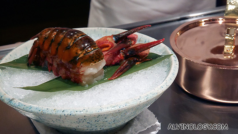 The next two dishes of abalone and lobster were prepared concurrently