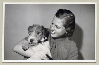 Girl with Fox Terrier