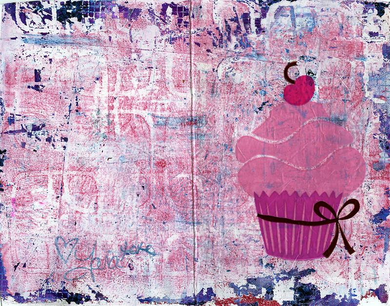 Birthday Card Cupcake