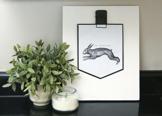 Rabbit Hare Print