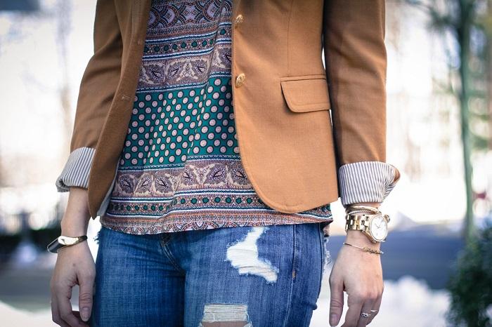 aviza style. andréa viza. fashion blogger. dc blogger. jcrew collection leopard calf hair heels. fashion. current elliott stiletto jeans. silk print cami. 2