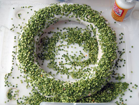 DIY Wreath with Split Peas