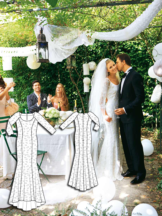112 long sleeve wedding dress sewing pattern 032010