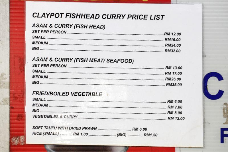Claypot Fish Head Curry Menu Price