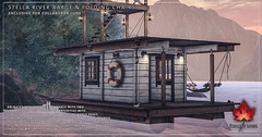 Trompe Loeil - Stella River Barge & Folding Chairs for Collabor88 June