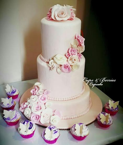 Three-Tier Debut Cake by Anna Lily D. Cabigan of Cups and Berries Cupcake
