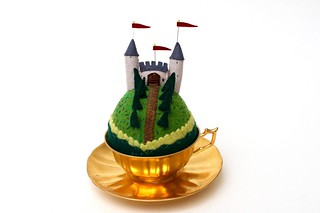 tiny world- castle with topiary