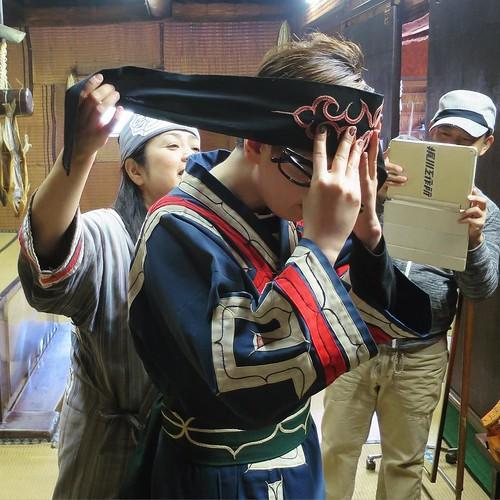 貸し衣裳にチェンジ #ポロトコタン #アイヌ民族博物館