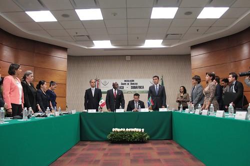 El día 7 de julio se llevó a cabo en la H. Cámara de Diputados la Instalación del Grupo de amistad México-Sudáfrica.