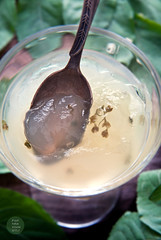 Elderflower jelly pudding