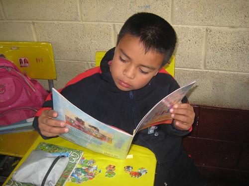 Guatemalan boy reading