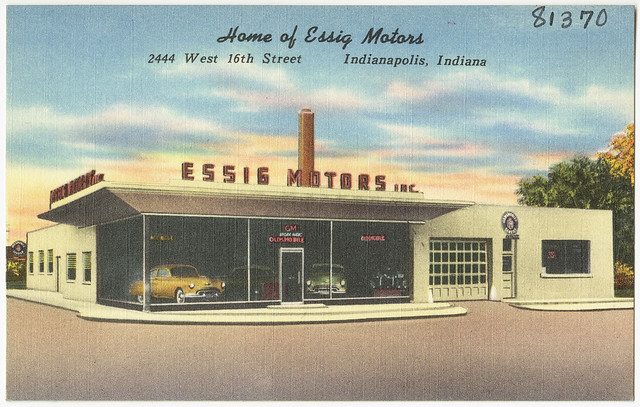 Home Of Essig Motors 2444 West 16th Street Indianapolis